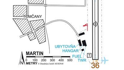 Letiště Martin (LZMA) (Letiště) • Mapy cz